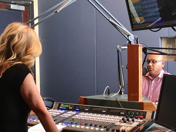 "Dr. Somusetty participates in the ""I'm Listening"" broadcast."